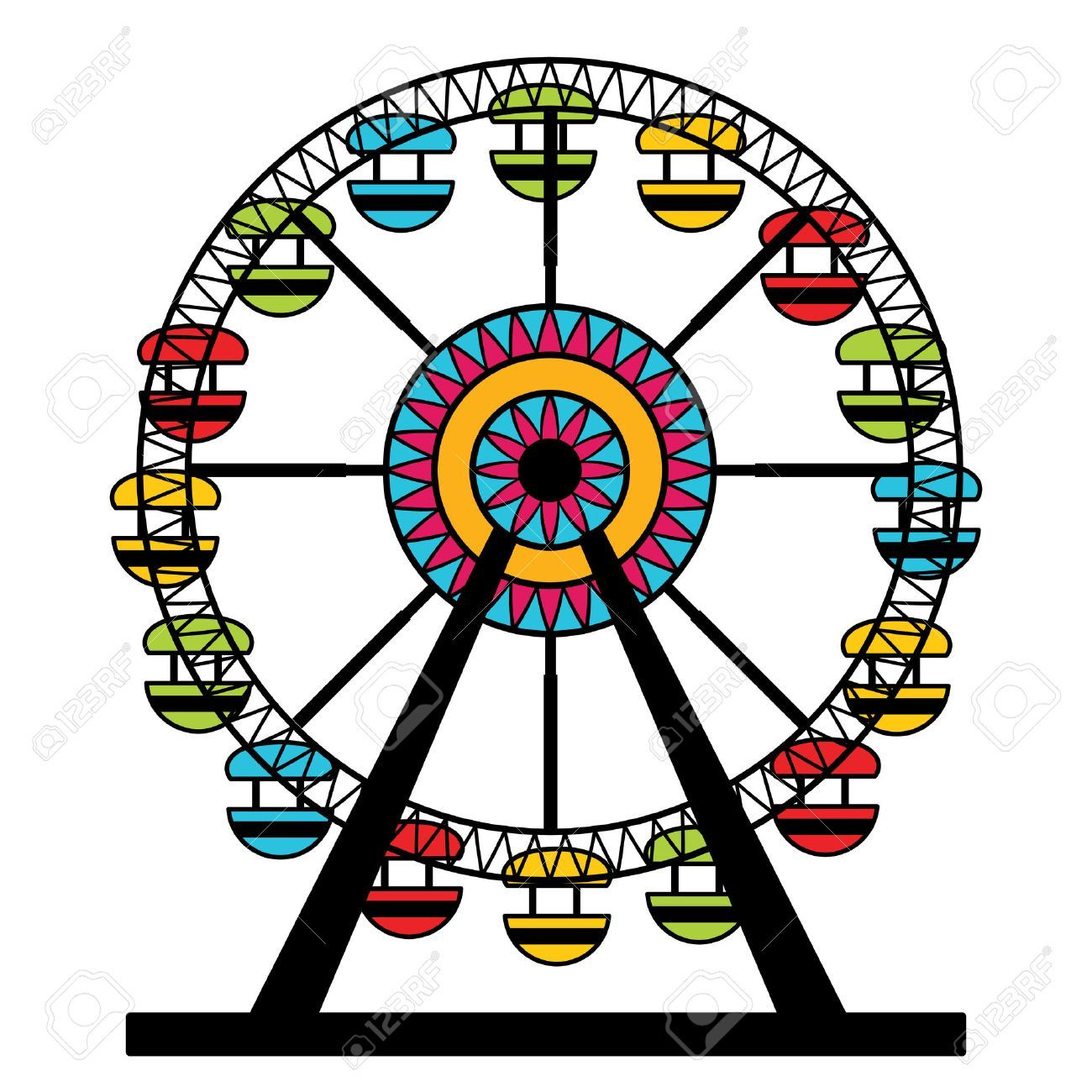 Park and ride clipart png black and white stock Amusement park ride clipart 5 » Clipart Portal png black and white stock