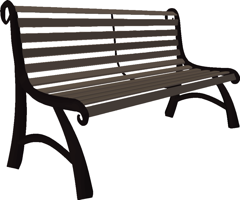 Park bench from behind clipart clipart free OnlineLabels Clip Art - Park Bench clipart free