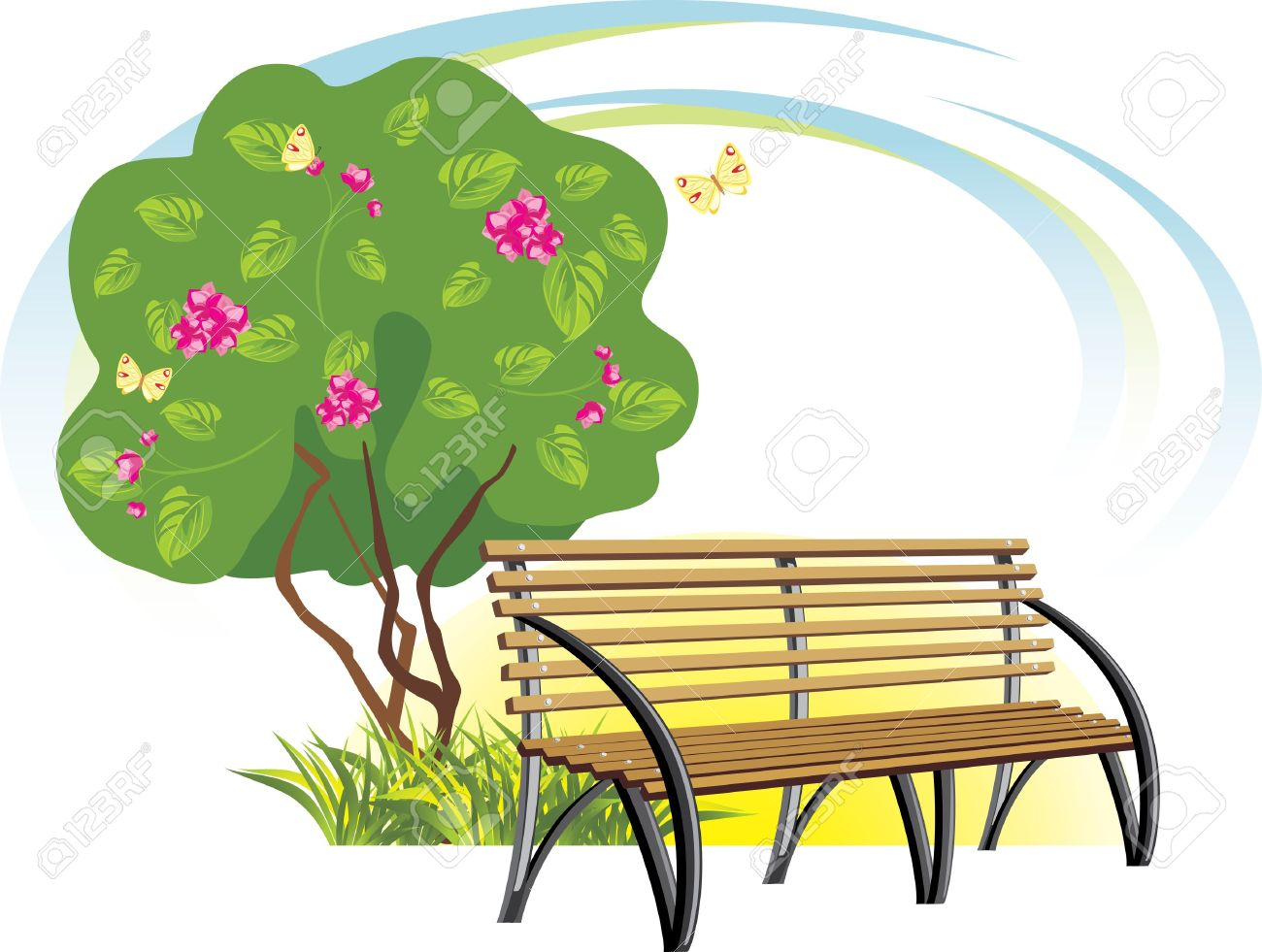 Park bench from behind clipart png freeuse download 88+ Park Bench Clipart | ClipartLook png freeuse download