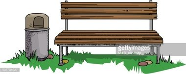Park bench from behind clipart banner free library Park Bench stock vectors - Clipart.me banner free library