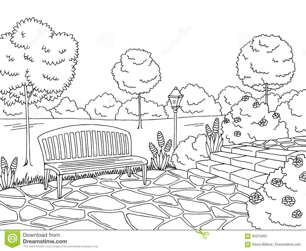 Park black and white clipart jpg black and white stock Clipart park black and white 5 » Clipart Portal jpg black and white stock