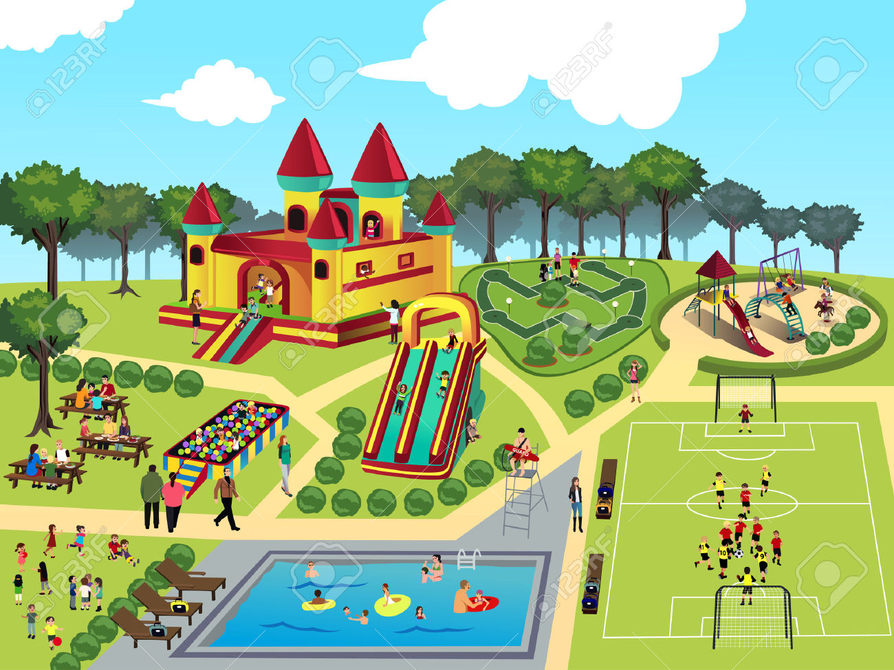 Park clipart graphic royalty free Park Clip Art Free | Clipart Panda - Free Clipart Images graphic royalty free