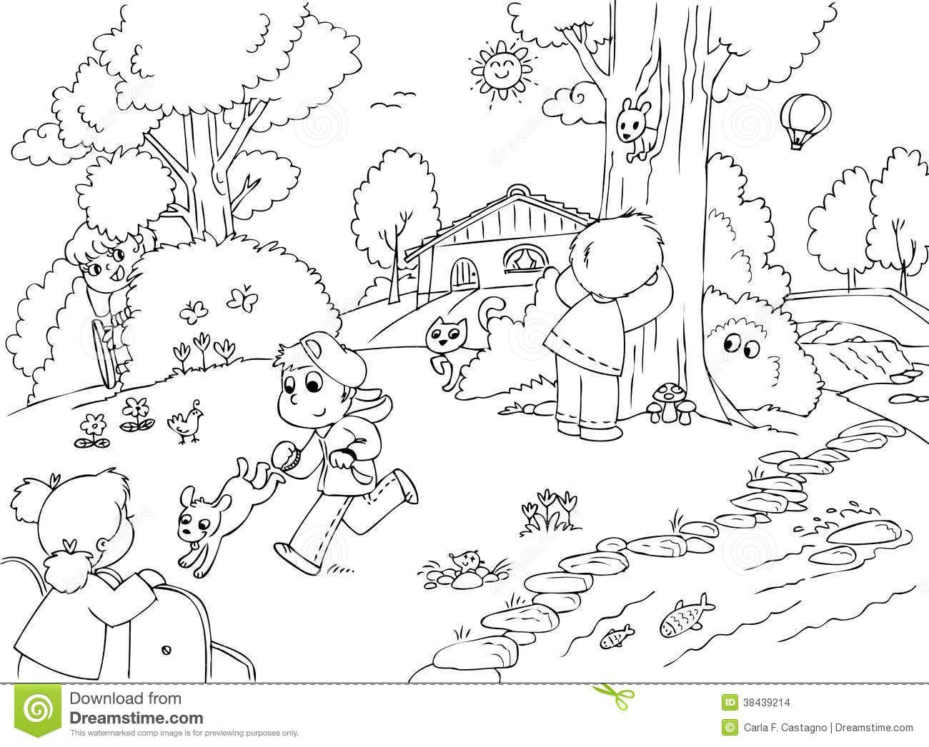 Park clipart black and white vector download Children park clipart black and white 7 » Clipart Portal vector download