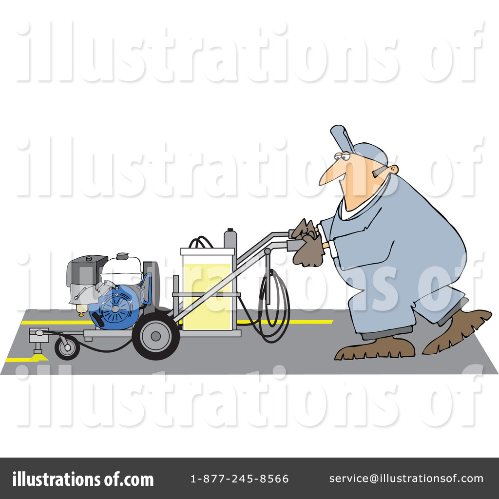Parking lot striping clipart picture Worker Clipart #1170558 - Illustration by djart picture