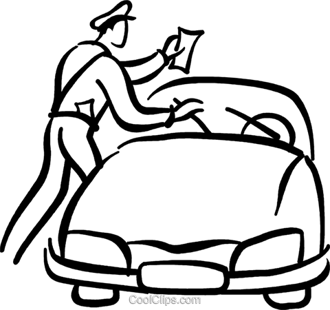 Parking ticket clipart royalty free download police officer giving a parking ticket Royalty Free Vector ... royalty free download