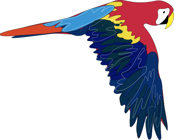 Parrot flying clipart clip art freeuse download This flying parrot clip art is | Clipart Panda - Free ... clip art freeuse download