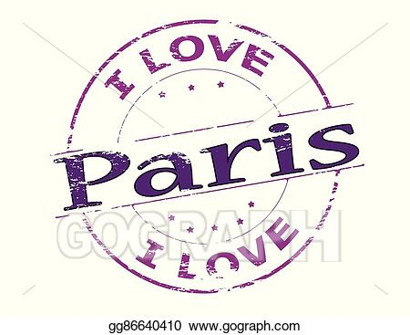 Pars clipart svg royalty free stock Vector Art - I love paris. EPS clipart gg86640410 - GoGraph svg royalty free stock