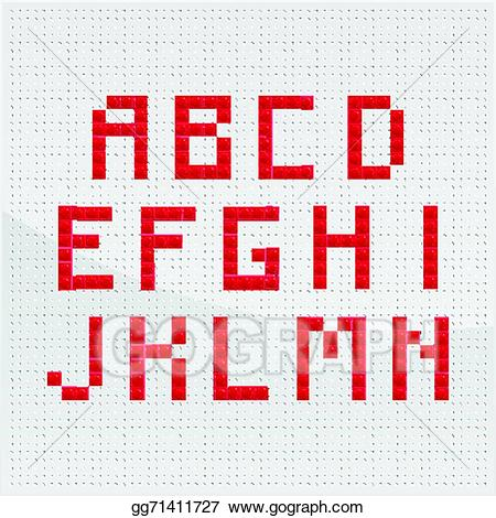Part one clipart free stock Vector Art - Red mosaic alphabet part one. EPS clipart ... free stock