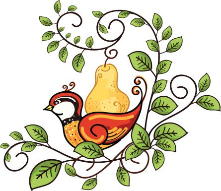Partridge in a pear tree free clipart clipart library library Partridge In A Pear Tree Clip Art - ClipArt Best   12 Days ... clipart library library