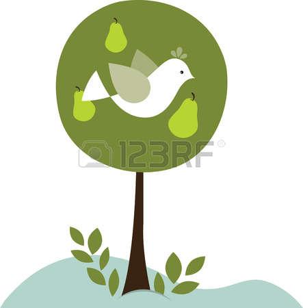 Partridge in a pear tree free clipart jpg black and white library Partridge In A Pear Tree Clip Art - Alnwadi jpg black and white library