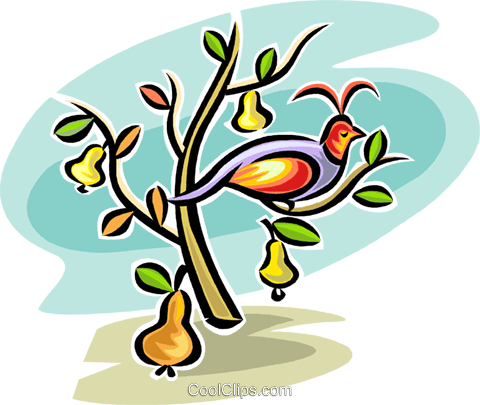 Partridge in a pear tree free clipart clip art black and white partridge in a pear tree Royalty Free Vector Clip Art ... clip art black and white