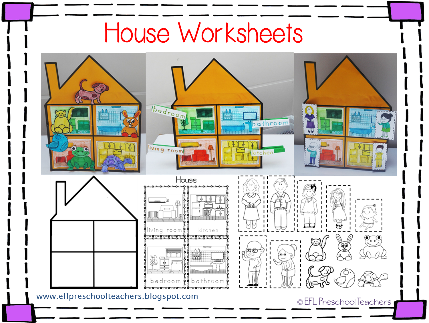 Parts of a house clipart clip art royalty free stock Parts of a house worksheets for preschool#102436 - Myscres clip art royalty free stock