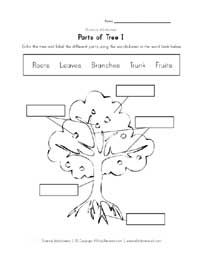Parts of a tree clipart black and white vector black and white download parts of a tree worksheet | Botany Learn & Play | Animal ... vector black and white download