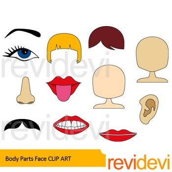 Parts of the face fill in free clipart svg free Download Free png Body Parts clip art Face clip art | Cool TPT clip ... svg free