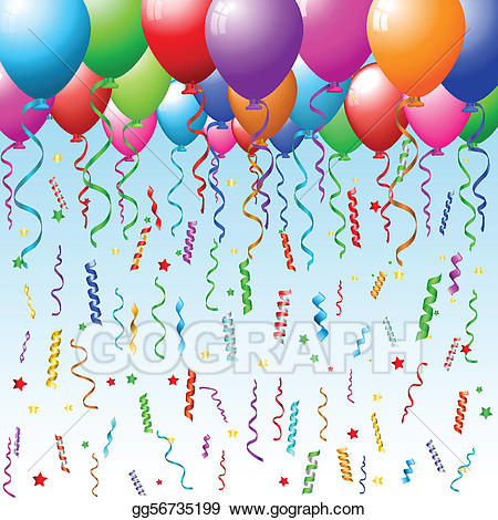 Party background clipart transparent library Vector Stock - Party background with balloons. Clipart ... transparent library