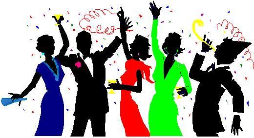 Party cliparts clip black and white library Free Celebration Clip Art Pictures - Clipartix clip black and white library