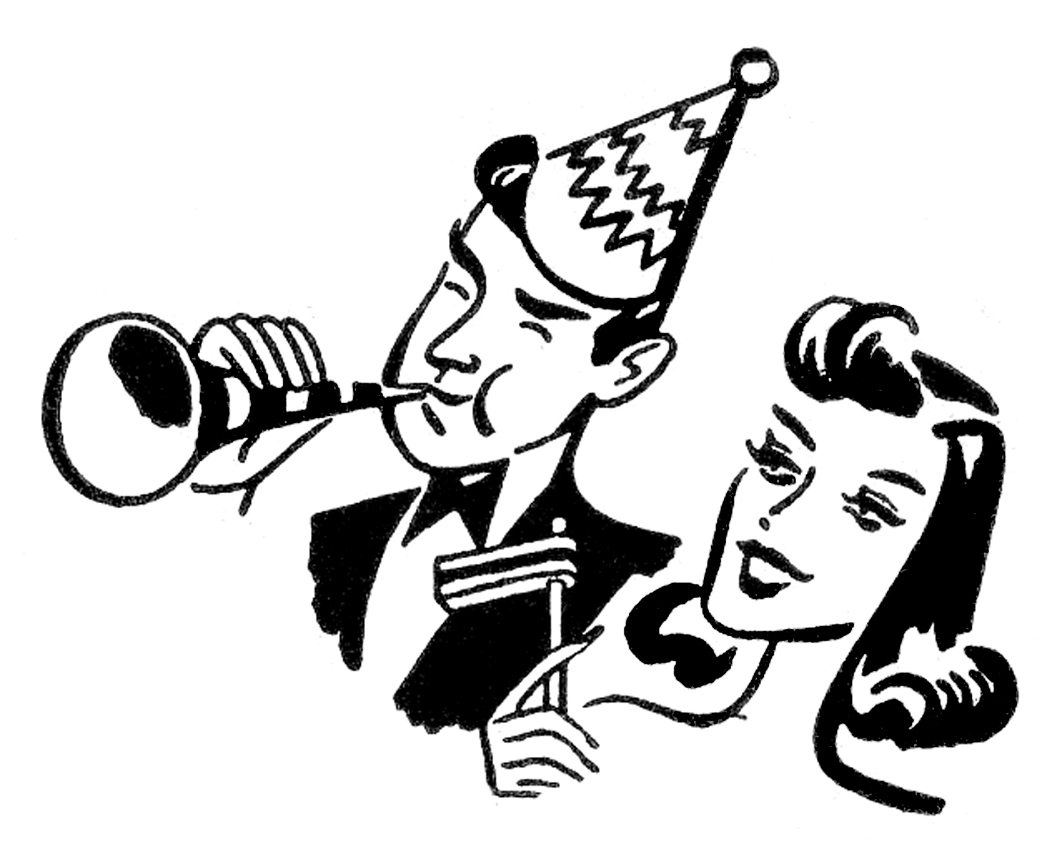 Party cliparts jpg black and white library Clip Art New Year's Eve Party Clipart - Clipart Kid jpg black and white library