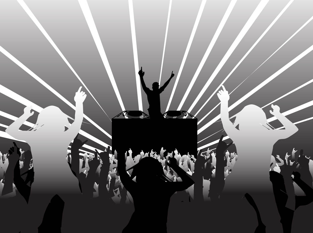 Party dj clipart picture stock Disco Party Layout Vector Art & Graphics | freevector.com picture stock