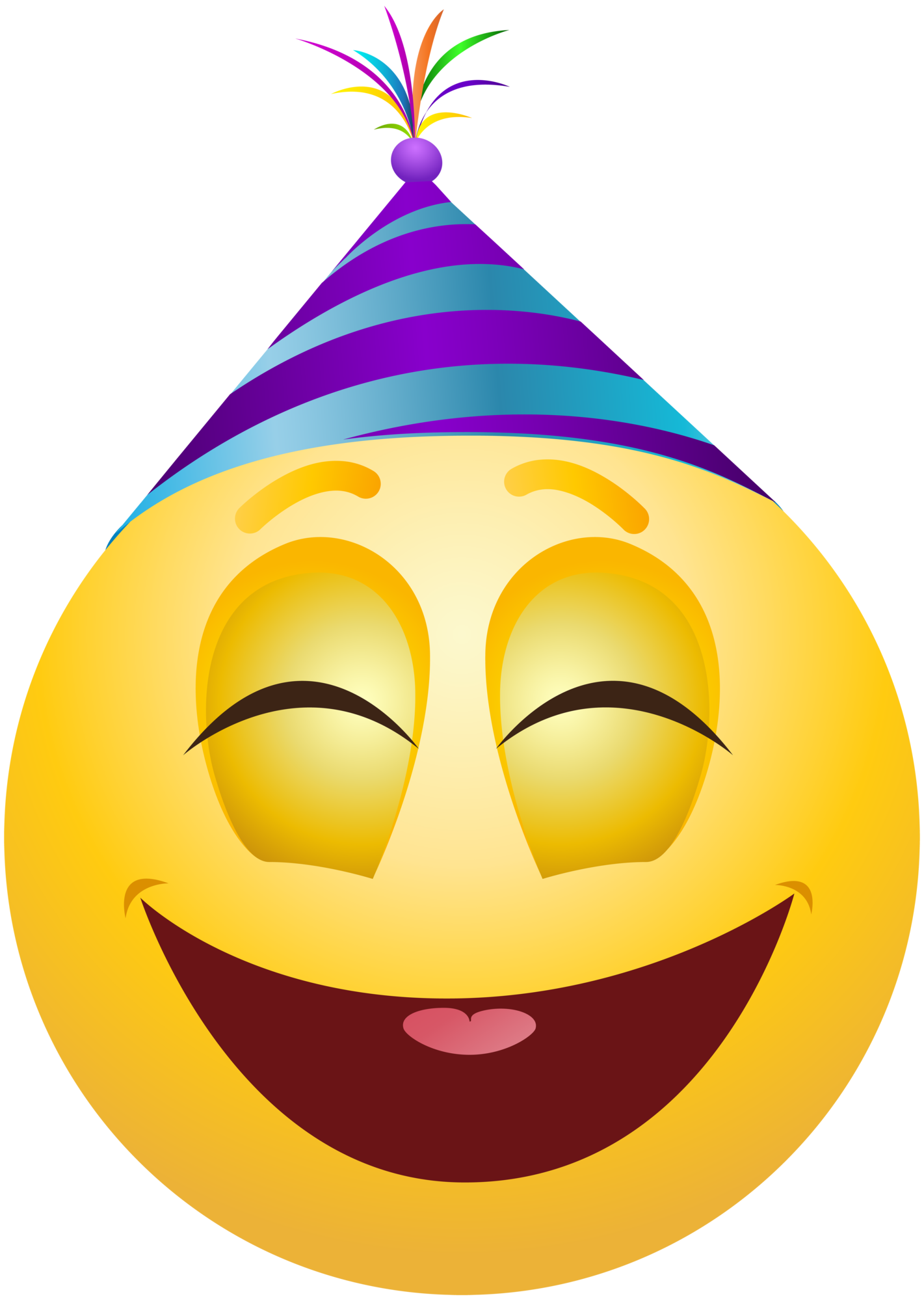 Party emoji clipart clip free library Party Emoticon Emoji Clipart Info clip free library