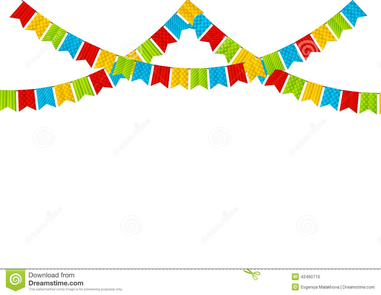 Party flag clipart clip art black and white library Triangle Flag Banner Clipart | Free download best Triangle ... clip art black and white library