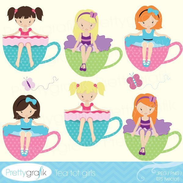 Party girls clipart graphic freeuse download Tea party girl clipart graphic freeuse download