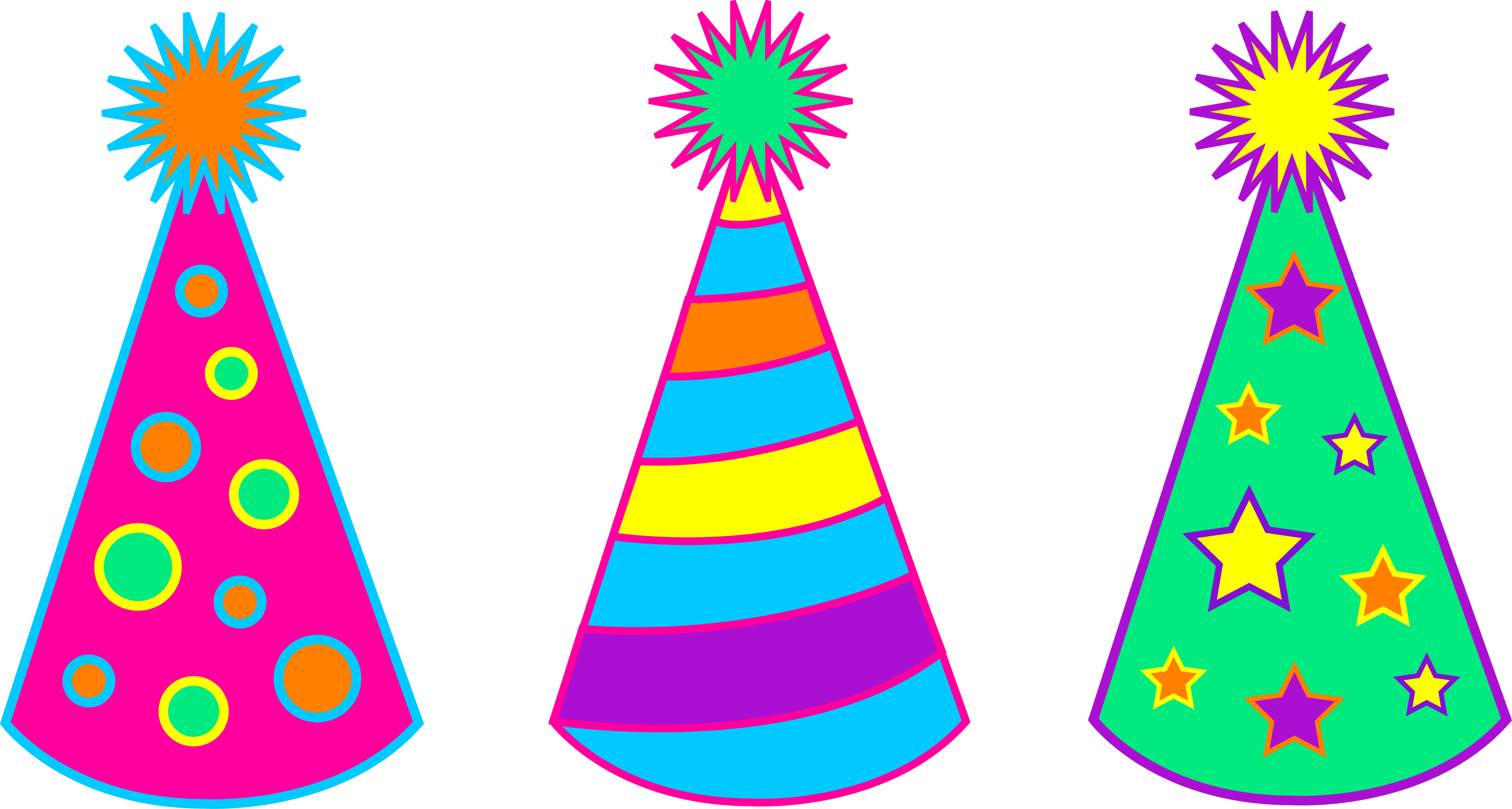 Party hat clipart pastel color svg black and white stock Party hat clipart - ClipartFest svg black and white stock