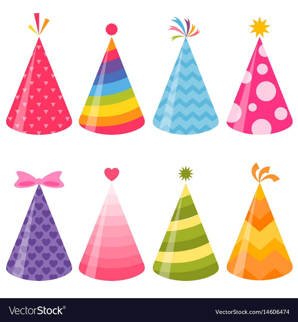 Party hat vector clipart clip art free library Birthday party hats set clip art free library