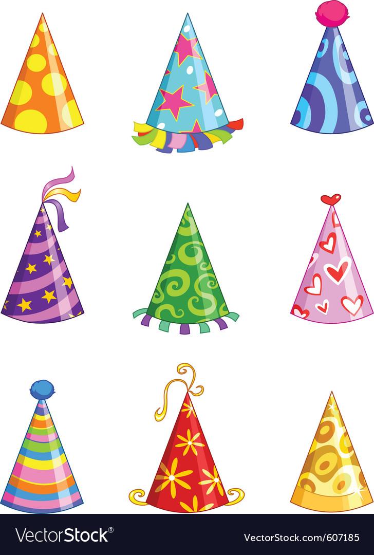 Party hat vector clipart picture transparent download Party hats picture transparent download