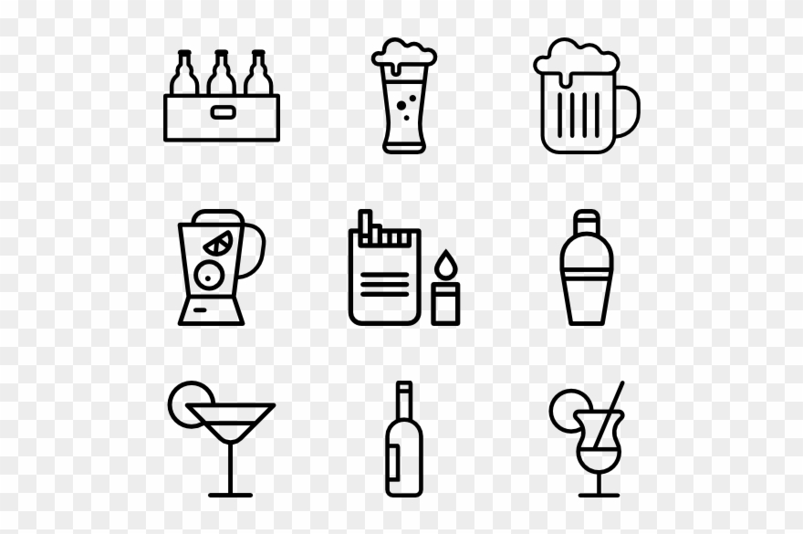 Party icons clipart graphic download Bar Icons - Party Icon Transparent Background Clipart ... graphic download