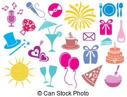 Party icons clipart clip Party favor Clip Art Vector Graphics. 694 Party favor EPS ... clip