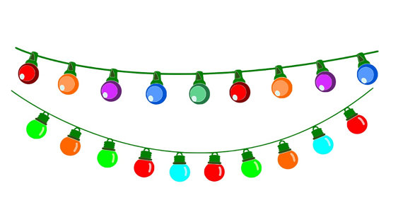 Party lights clipart graphic transparent stock Christmas lights christmas light clipart bunting party lights ... graphic transparent stock