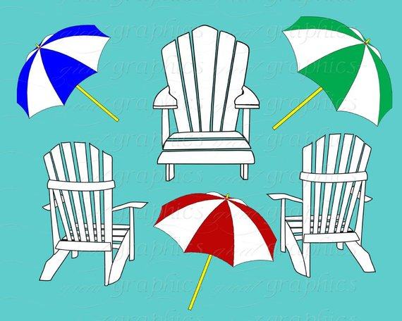 Party lounge clipart vector free Beach Clip Art Digital Clipart Beach Chair Beach Party ... vector free