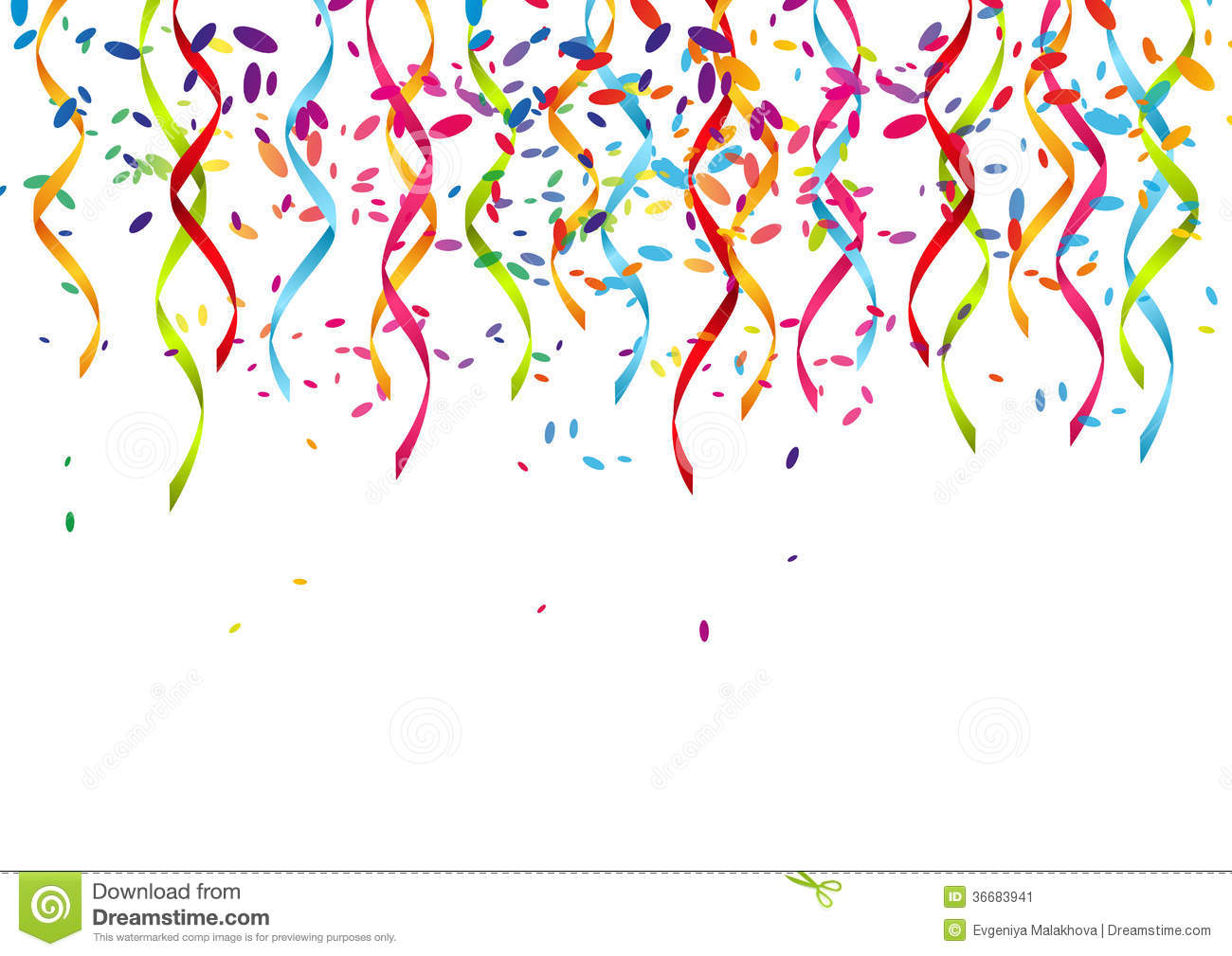 Party ribbons clipart vector free Royalty-Free Stock Photo - 1009*1300 - Free Clipart Download ... vector free