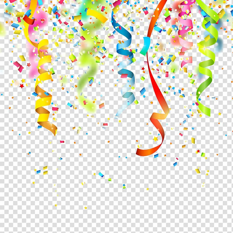 Party decor clipart clip art royalty free download Multicolored ribbon party decor, Birthday Confetti Party ... clip art royalty free download