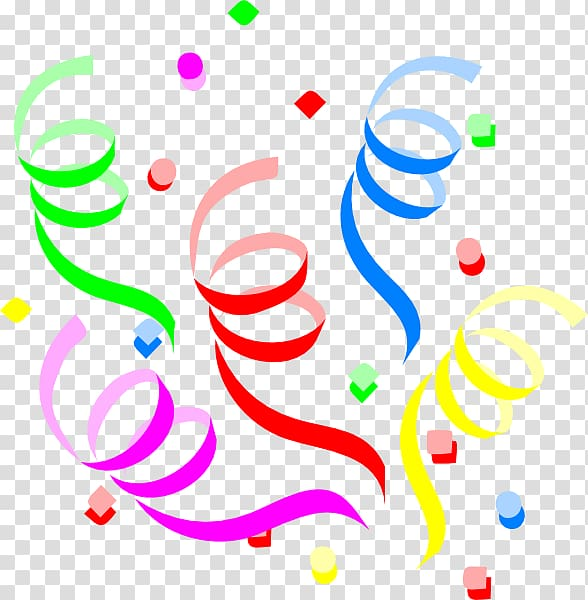 Party streamers clipart jpg Assorted-color spiral , Birthday cake Serpentine streamer ... jpg