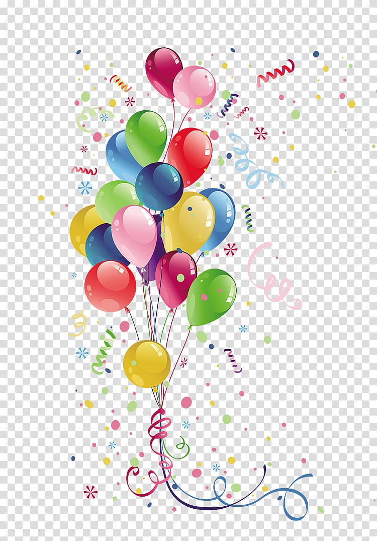 Party supply clipart clipart free download Balloons illustration, Party Balloon Birthday , Colorful ... clipart free download