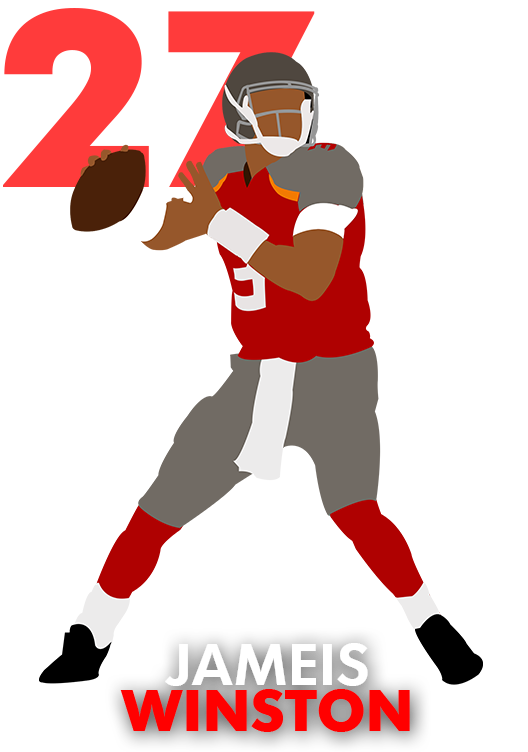 Pass basketball clipart banner library QB Rank No. 27: Jameis Winston | USA TODAY Sports Wire banner library