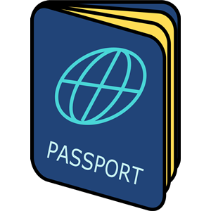 Passport images clipart vector freeuse Simple Passport clipart, cliparts of Simple Passport free download ... vector freeuse
