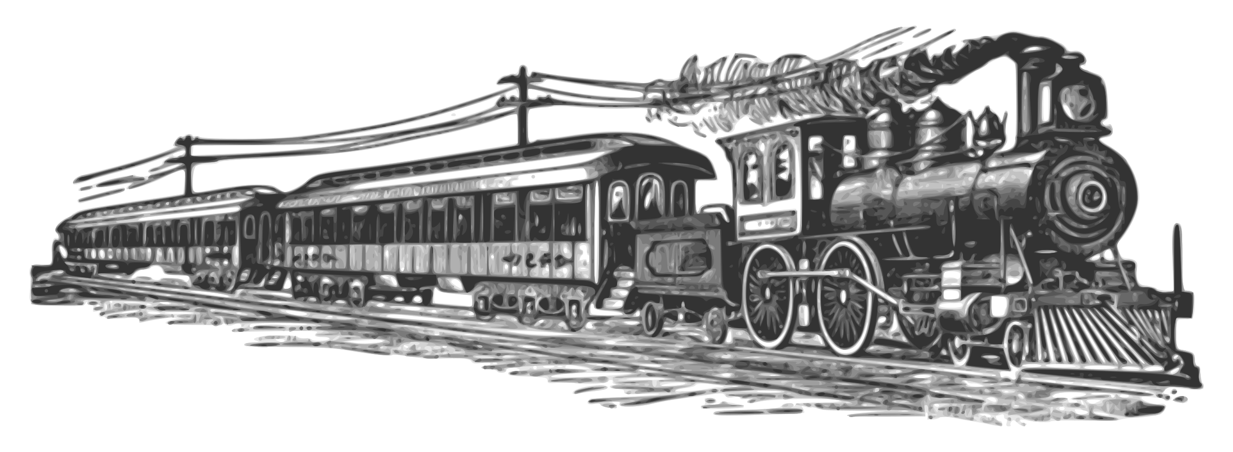 Passenger car clipart royalty free download Passenger Train PNG Black And White Transparent Passenger Train ... royalty free download