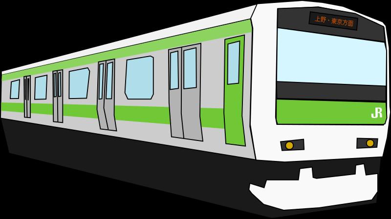 Passenger train car clipart clipart freeuse stock Clipart - Yamanote Train clipart freeuse stock