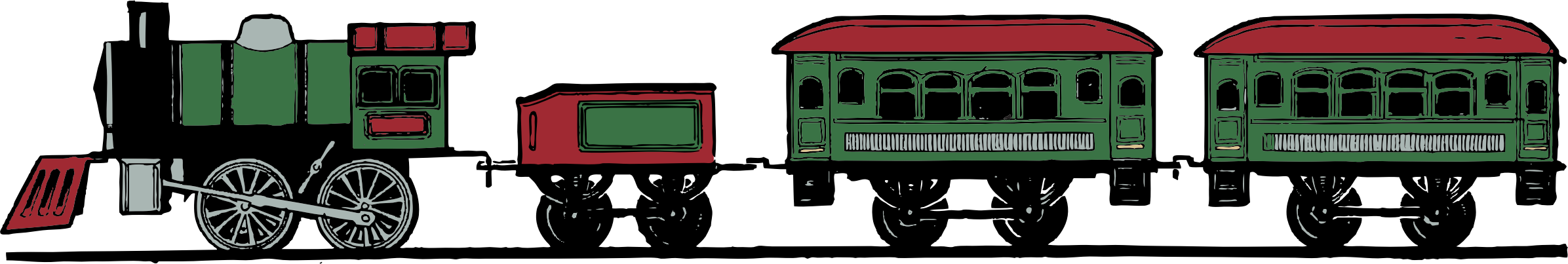 Passenger train car clipart jpg transparent download Clipart - color toy train set jpg transparent download