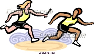 Passing the baton clipart jpg download Relay racers passing the baton | Clipart Panda - Free ... jpg download