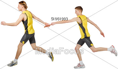 Passing the baton clipart picture Stock Photo Relay Runners Passing the Baton Clipart - Image ... picture