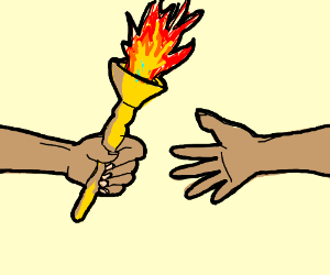 Passing the torch clipart clip library stock Stop climate change eat tables - Drawception clip library stock