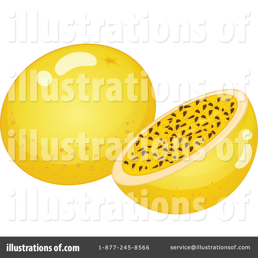 Passionfruit clipart clip free download Passion Fruit Clipart #1124158 - Illustration by Graphics RF clip free download