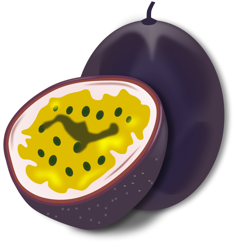 Passionfruit clipart clipart free stock Free Clipart: Passion Fruit | gnokii clipart free stock