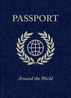Passport cover clipart clip free download Around the world party passport invitation card | Around the ... clip free download