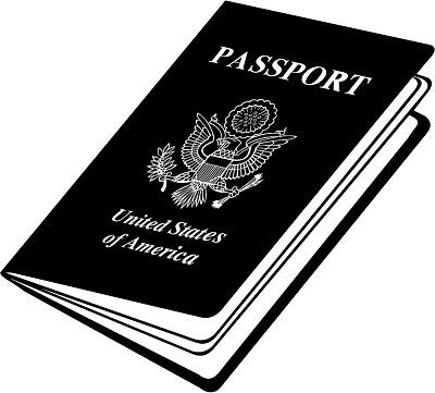 Passport cover clipart clipart black and white Us passport clipart - ClipartFest clipart black and white
