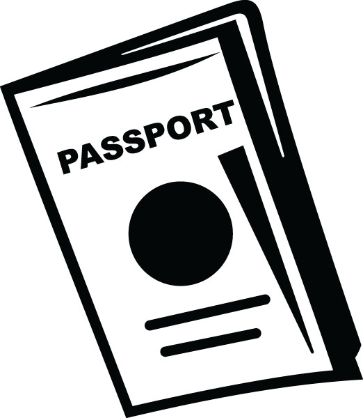 Passport images clipart vector black and white download Passport clipart 1 » Clipart Station vector black and white download