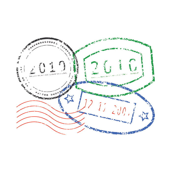 Passport stamp clipart